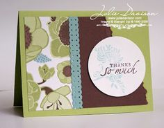 Julie's Stamping Spot -- Stampin' Up! Project Ideas Posted Daily: Greenhouse Gala Cards