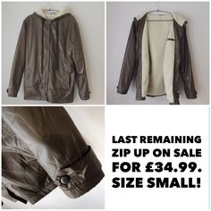 The last of our olive green zip ups are now online at a reduced price of just £34.99  www.stormoriginal.com