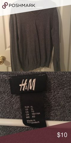Men's H&M Sweater Heathered grey 100% cotton H&M Sweaters V-Neck