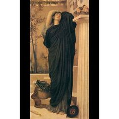 """Buyenlarge Electra at The Tomb of Agamemnon by Frederick Leighton Painting Print Size: 36"""" H x 24"""" W x 1.5"""" D"""