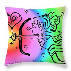 Happy Valentine's Day Cupid 4 Throw Pillow for Sale by Alex Art and Photo Pillow Sale, Cupid, Happy Valentines Day, Fine Art America, Throw Pillows, Prints, Toss Pillows, Cushions, Decorative Pillows
