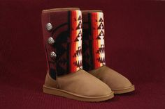 It's not I want these boots but they WANT ME! Seriously Native design on the comfiest boots in the world? WIN!