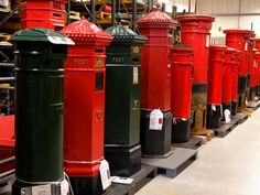 Old red London Royal Mail letter boxes. Photo©Aybige Mert