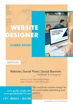 Best Freelance Website Designer In India Letterhead Design, Social Media Pages, Facebook Instagram, Invitation Cards, Creative Design, Advertising, Banner, Graphic Design, Website