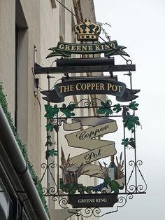 Copper Pot, Warwick St., Leamington Spa, England....I like the crown. Justin can make this.