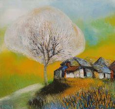 (Vietnam) Autumn by Dao Hai Phong (1965~   ). Oil on canvas.