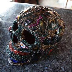 Hey, I found this really awesome Etsy listing at https://www.etsy.com/listing/236173932/day-of-the-dead-skull-mosaic-skull-fused