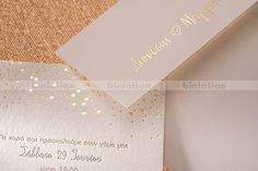 Biniatian modern chic Gold Foil wedding invitations
