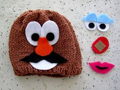 @Betzy VanTilborg I think you should add this Mr. Potato Head Hat to your crochet to-do list :)