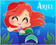 Photo of ariel chibi for fans of Disney Princess 31905257 Ariel Disney, Chibi Disney, Disney And Dreamworks, Baby Disney, Disney Love, Disney Art, Disney Stuff, Disney Pics, Disney Drawings