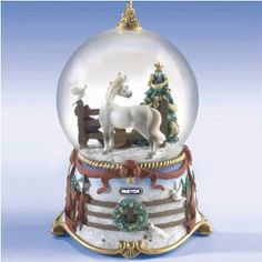 Breyer Deck The Halls Musical Snow Globe: 6th in series - 2008