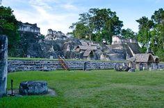 View north from the main square of Tikal | Adventures (and Arachnophobia) at Tikal, #Guatemala | http://www.everintransit.com/tikal-guatemala-mayan-ruins/