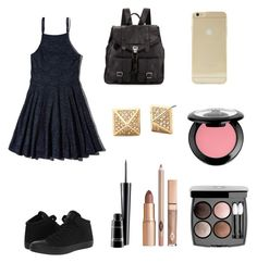 Dress Simply by hellofashion22 on Polyvore featuring polyvore, fashion, style, Abercrombie & Fitch, Converse, Proenza Schouler, Sonix, NYX, MAC Cosmetics and Chanel