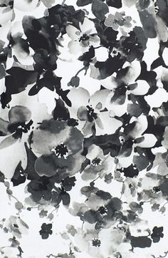 Monochrome floral textile print - modern surface pattern design for fashion // Maggie London #armadilloflip