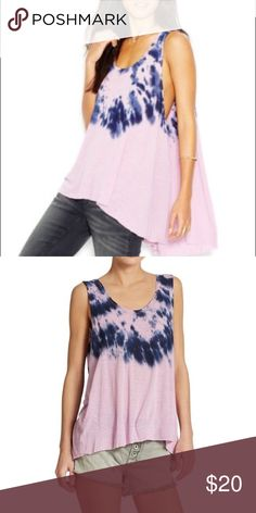 NWT free people tie dye shirt NWT free people dnight combo size Large originally $58 selling for $20! Free People Tops Tank Tops