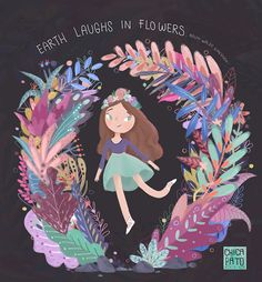 Earth laughs in flowers ·Ilustration· on Behance