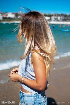 Balayages blonds incroyables l'été!