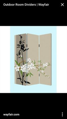 Create A More Intimate Space With The Ft Tall Cherry Blossom - Cherry blossom room divider screen