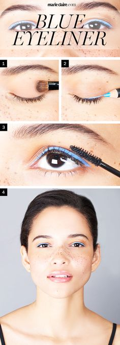 Makeup How-To: Light Blue Eyeliner in 3 Steps | MarieClaire.com