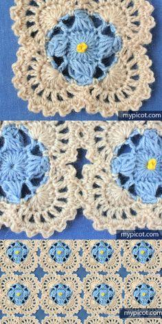 [Free Pattern] Learn A New Crochet Stitch: Stunning Flowers Crochet Stitch Pattern