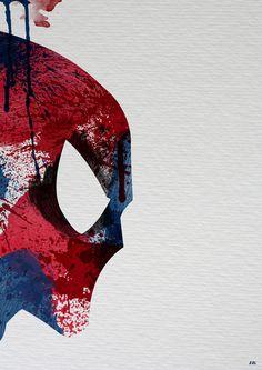 Super Heroes Painted: Spider-man Art Print