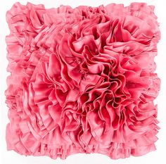 This poppy colored pillow from Surya is the perfect addition to any room ready for Spring... or Summer.