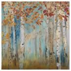 "40 in. x 40 in. ""Birch Beauties II"" Printed Canvas Wall Art"