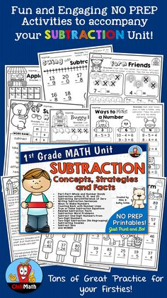 Just a few subtraction number story worksheets that I've used with ...