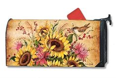 """MailWraps Sunflower Mix Mailbox Cover #01197 by MailWraps > MailWraps Sunflower Mix Mailbox Cover #01197 6.45"""" X 19"""" Check more at http://farmgardensuperstore.com/product/mailwraps-sunflower-mix-mailbox-cover-01197-by-mailwraps/"""