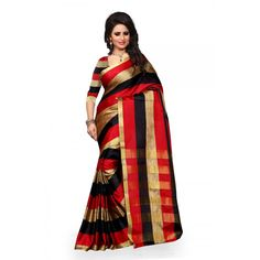 Charming Black Color Art Silk Kanchivaram Silk Saree at just Rs.750/- on www.vendorvilla.com. Cash on Delivery, Easy Returns, Lowest Price.