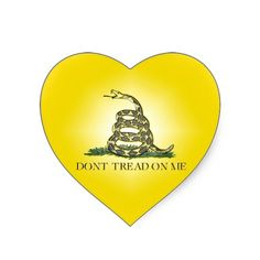 Don't Tread On Me Heart Sticker
