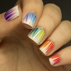 rainbow - love the stripes.