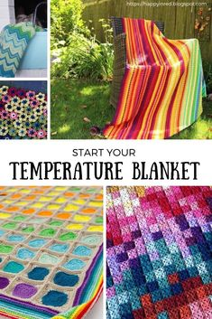 Crochet Afghan Patterns How to make a crochet temperature blanket? Start your crochet temperature blanket 2019 with this complete crochet guide and free crochet patterns Crochet Afghans, Crochet Yarn, Free Crochet, Crochet Blankets, Learn Crochet, Crochet Quilt, Crochet Tops, Crochet Stitches Patterns, Afghan Crochet Patterns
