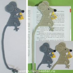 Mice #crochet bookmarks