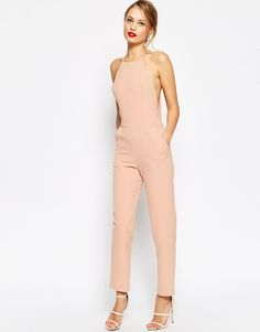 ASOS Premium halter neck jumpsuit found on Nudevotion Pink Jumpsuit, Halter Jumpsuit, Jumpsuit Outfit, Jumpsuit Style, Casual Styles, Pretty Outfits, Cute Outfits, Moda Chic, Mode Style