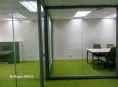 Glass System Wall 新蒲崗勤達中心 (1框雙清玻璃屏風) 3