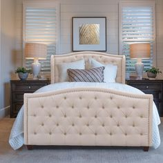 Wingback Headboard, Upholstered Bed Frame, Headboard And Footboard, Bedroom Furniture Stores, Furniture Deals, Queen Size Bedding, Bedding Sets, Jennifer Taylor, Thing 1