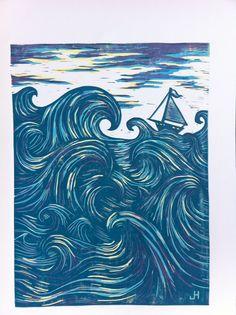 waves lino - Google Search