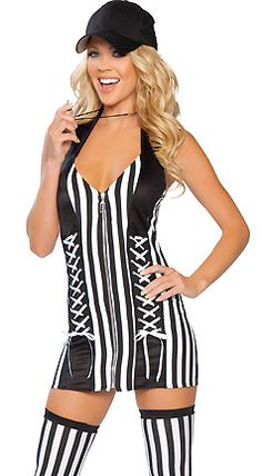 Referee Foul Play Costume for Women