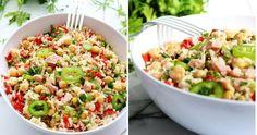 Ensalada de arroz, jamón york y garbanzos (receta de aprovechamiento)