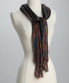 Take a look at this Black Confetti Scarf by Rapti on #zulily today! regular price: $36, on sale for $7.99
