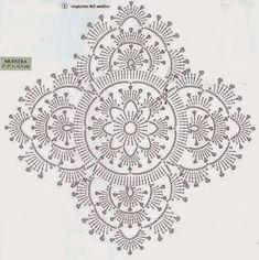 Granny Square filigran Lace Häkeln / crochet geometric