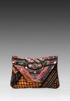 Antik Batik Aeden Clutch in Multi