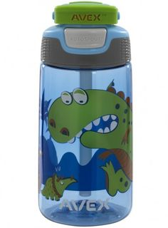 Blue dinosaur Kids Freestyle Water Bottle