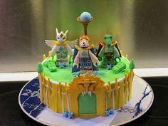 Fondant cake with lego chima cragger, laval og iris