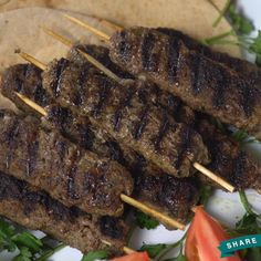 Time to fire up the grill for these Kofta Kebabs! The seasoning is totally where it's at! Turkish Recipes, Greek Recipes, Meat Recipes, Indian Food Recipes, Cooking Recipes, Beef Kabob Recipes, Barbecue Recipes, Oven Recipes, Easy Cooking