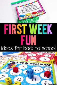 Get TONS of ideas to use for the first week back to school! Miss DeCarbo shares what her first week of school looks like, how she makes classroom management during that first week engaging and fun, and tips and tricks to make your fabulous first week of back to school run smoothly! She shares how she uses magic dough, math games, all about me activities, and more! #backtoschool #firstweekofschool #backtoschoolideas #firstgrade #secondgrade #kindergarten #firstweeklessonplans