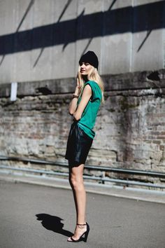 emerald + leather