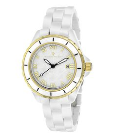 Look at this #zulilyfind! White Mother-of-Pearl Palace Bracelet Watch by Christian Van Sant #zulilyfinds