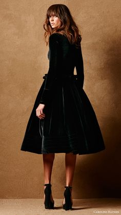 caroline hayden bridal 2017 long sleeves high neck short wedding dress (ch007 a black) mv